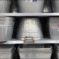 Galvanized Bucket Mass Merchandising