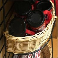 Half-Circle Wicker Baskets With Stand