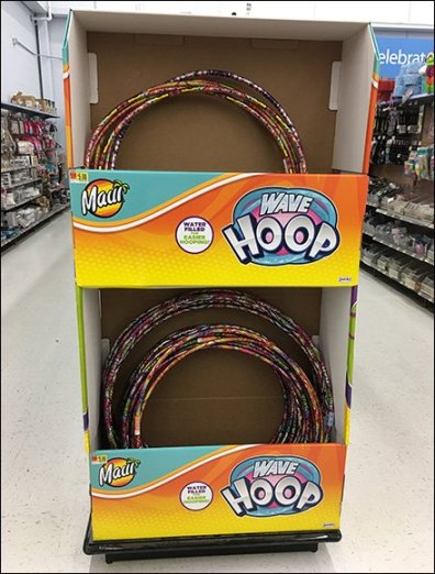 Hula Hoop Tiered Display For Half-Pallet