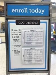 Petco Dog Training Calendar Entry Sign