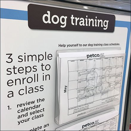 Petco DogTraining Calendar Entry Sign Feature