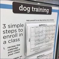 Petco DogTraining Calendar Entry Sign Feature