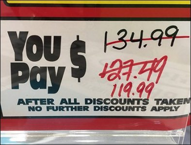 Price Countdown Clearance Sale Sign