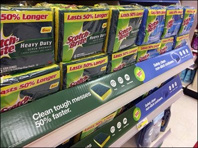 Scotch Bright Single-Prong Hook Endcap Display
