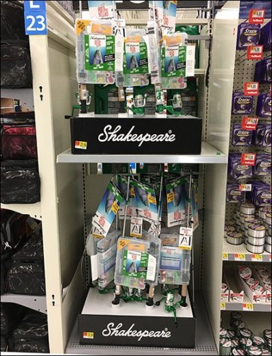 Fishing Pole In-Line Display by Shakespeare