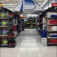 Tree-Top Camping Tent Flyover In Aisle
