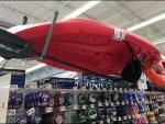 Purposeful Up-Side-Down Kayak Display