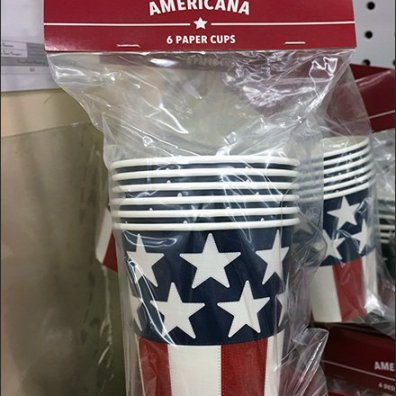 Americana Patriotic Partyware Pegboard Display