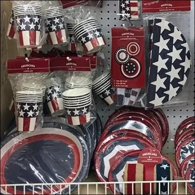 Americana Patriotic Partyware and Tableware Presentation Feature