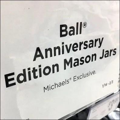 Anniversary Edition Mason Jar Merchandising Square