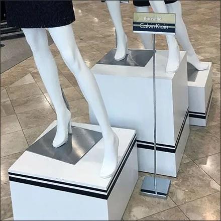 Calvin Klein Pinstriped Pedestal Presentation