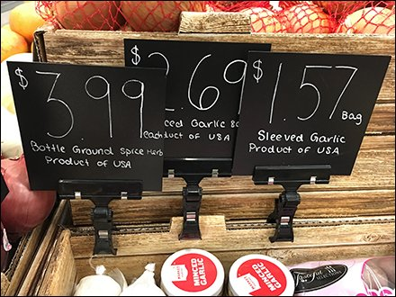 Chalkboard Clip-On Price Flags In Produce