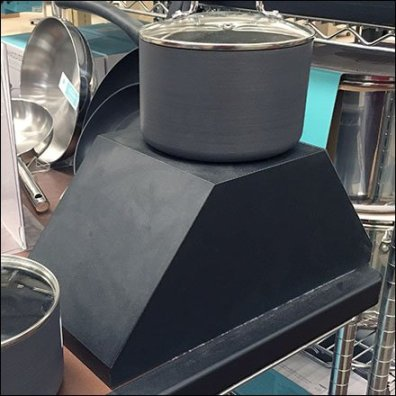 Cookware Trapezoidal Prism Pedestal Feature