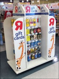 Gift Cards 'R Us Freestanding Island Display