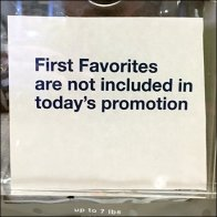 Favorites Not Included In Sale Promotion Aux