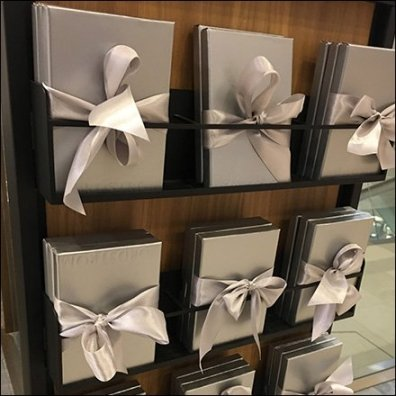 Gift Cards Boxed and Bowed Display