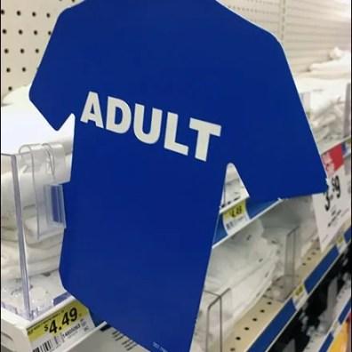 Gildan T-Shirt Category Definition Shelf Edge Flag