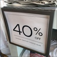 Hinged Metal Shelf Overlay Sign Holder