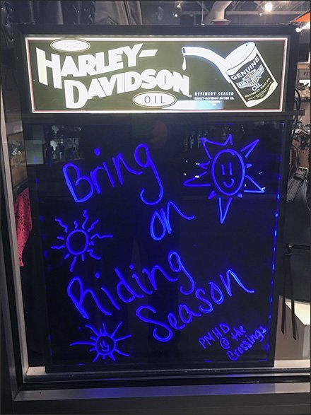 Harley-Davidson Black Light Window Sign