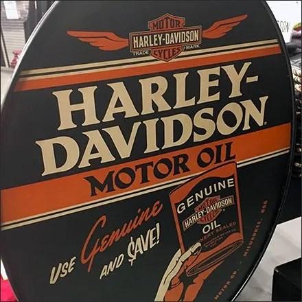 Vintage Harley-Davidson Motor Oil Floor Sign