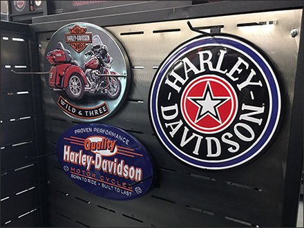 Harley-Davidson Stainless Steel Slatwall