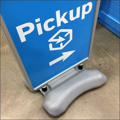Online Pickup Counter Floor Sign At Lowes