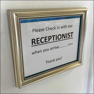 Mercedes Benz Please Check In With Receptionist Feature