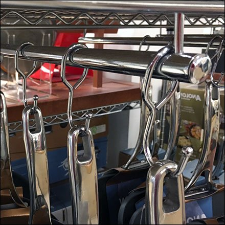 T Stand Cookware Hang Rod Fixtures Close Up