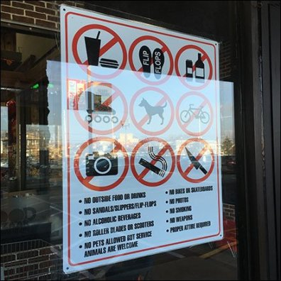 Nothing Permitted Inside The Store