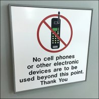 No Cell Phone Or Electronic Devices Feature