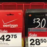 Gift Card Wire Rack Display With Bib Tags