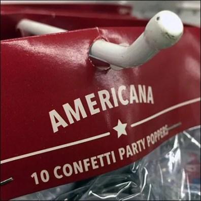 Patriotic Partyware Blunted Display Hook