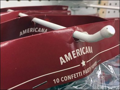 Patriotic Partyware Blunted Display Hook