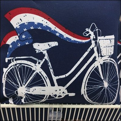 Patriotic Pillow Endcap Endless Basket