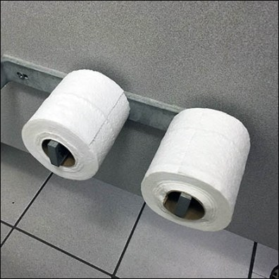 Restroom Basic Twin Roll Toilet Paper Holder Feature