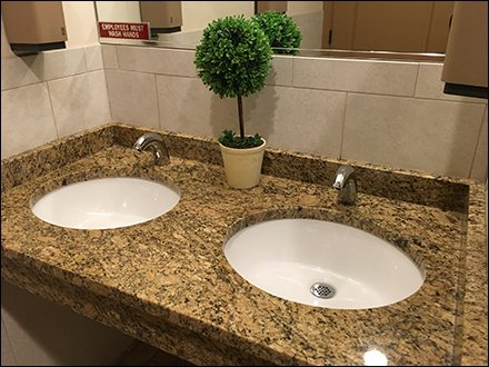Restroom Topiary Improves Facility Image
