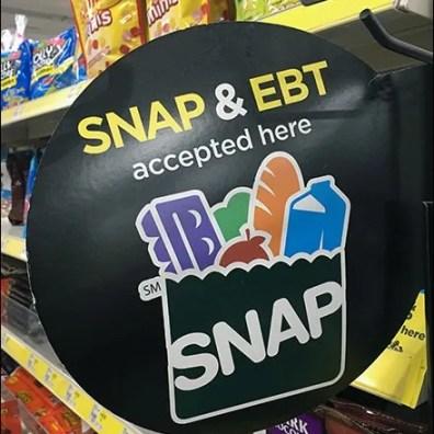 SNAP and EBT Card Shelf Edge Flag
