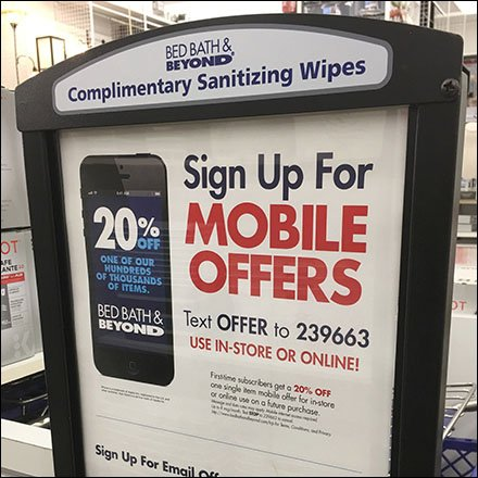 Sanitary Wipes Offer Advertising Opportunity