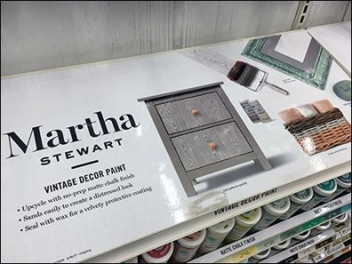 Martha Stewart Spray Paint Inline Display