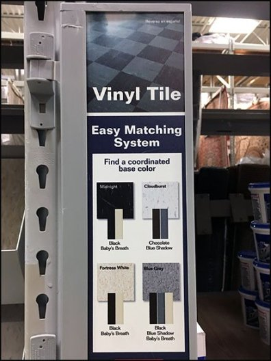Vinyl Tile Flooring Easy Matching System