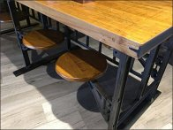 Viva Farms Swing-Out Bench Seating