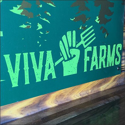 Viva Farms Restaurant Outfitting - Viva Farms House Beer List Entry Sign