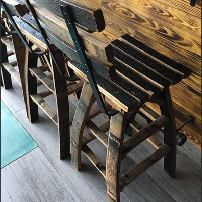 Viva Farms Whiskey Barrel Stave Stools 2