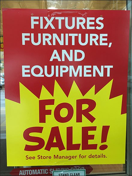 Fixtures, Furniture And Equipment Sale