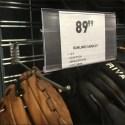 Baseball Glove Slatwire Merchandising Wall