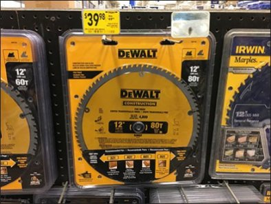 Circular Saw Blades Mass Merchandised