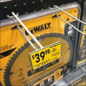 Circular Saw Blade Double Hole Hung by DeWalt Feature