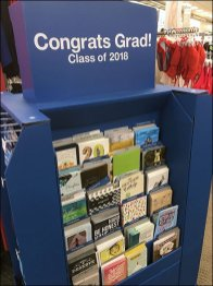 Congrats to Grads Corrugated Island Display