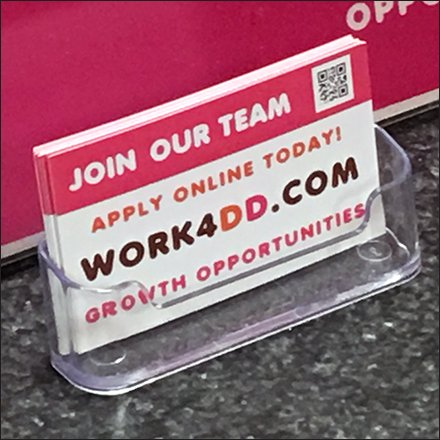 Hiring Business Card Urges Apply Online
