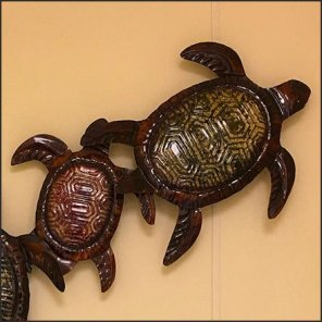 Turtle Wall Art Encourages Slow Restroom Ritual